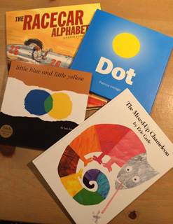 Some of the children's books selected for the program (photo by Willamarie Moore)