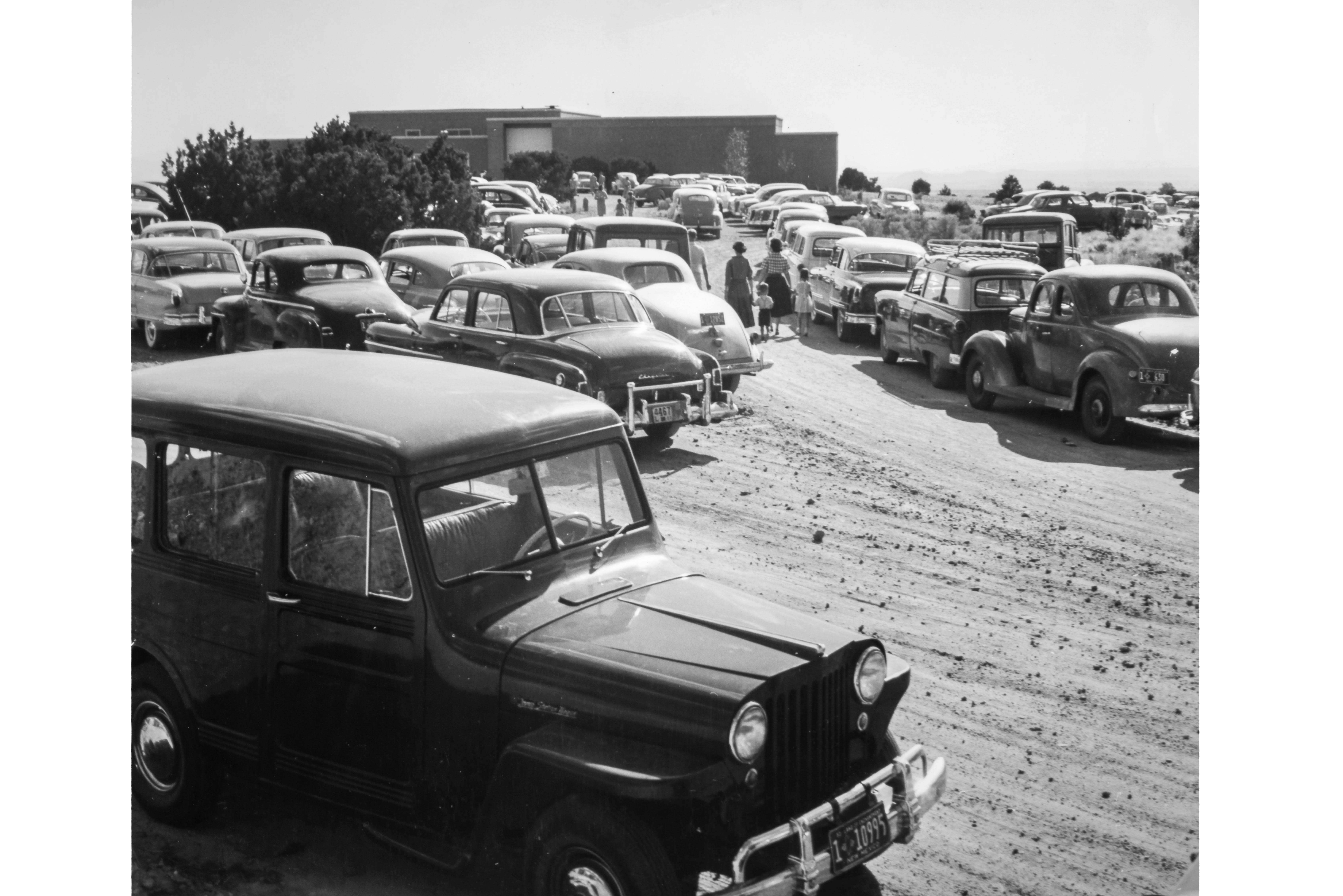 Parking Lot, Opening Day (photographer unknown, 1953)