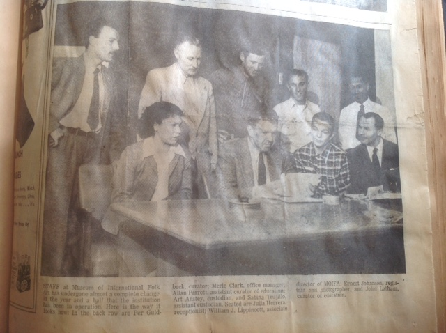 Photo of Museum staff from New Mexican May 25, 1955